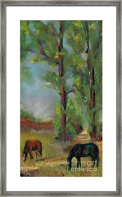 Past Friends Framed Print by Frances Marino