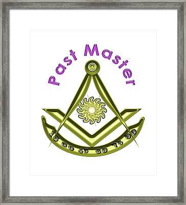 Past Master In White Framed Print