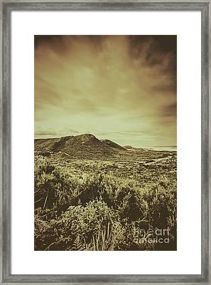 Past Mountain Peaks Framed Print