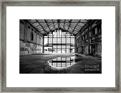 Past Reflections At The Casino Building Framed Print
