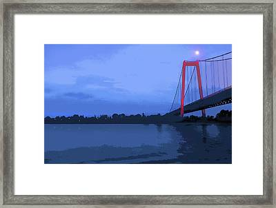 Past The Bridge Framed Print