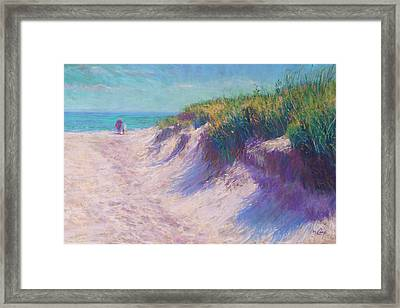 Past The Dunes Framed Print by Michael Camp