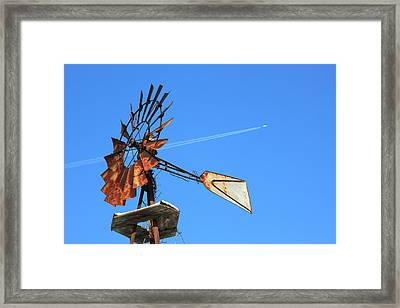 Past Vs Future Framed Print by Cathy  Beharriell