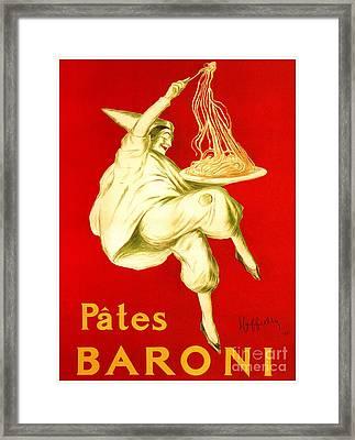 Pasta Baroni Leonetto Cappiello Framed Print by Heidi De Leeuw