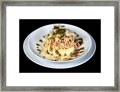 Pasta Bolognese Framed Print by Boyan Dimitrov