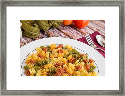Pasta Dinner #1 Framed Print by Jon Manjeot