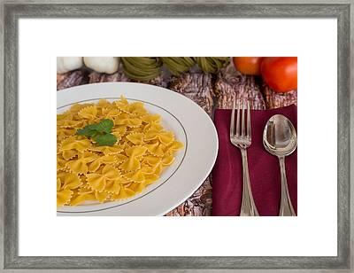 Pasta Dinner #2 Framed Print by Jon Manjeot