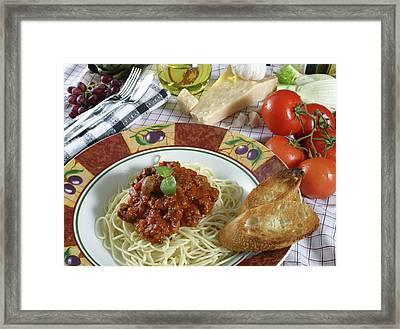 Pasta Dish 2 Framed Print