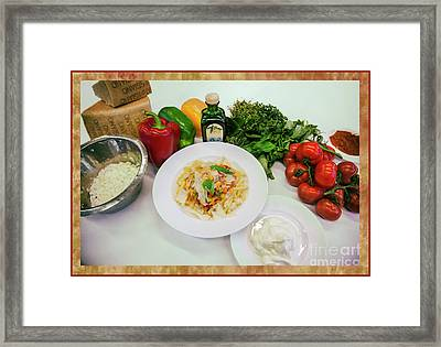 Framed Print featuring the photograph Pasta Ingredients  by Ariadna De Raadt
