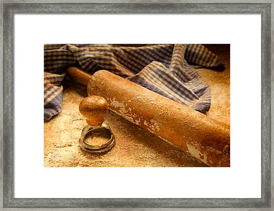 Pasta Making  Framed Print by Erin Cadigan