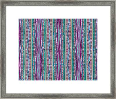 Pasta Night Framed Print by Modern Metro Patterns and Textiles