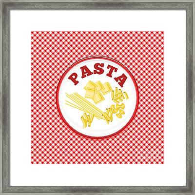 Pasta Plate Framed Print
