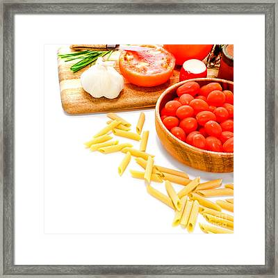 Pasta Please Framed Print by Olivier Le Queinec