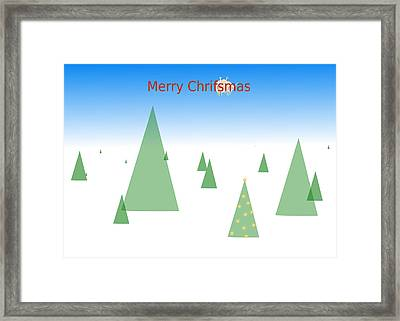 Pastafarian Greeting - Merry Chrifsmas Framed Print