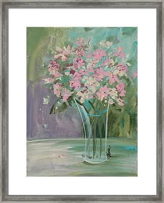 Pastel Blooms Framed Print