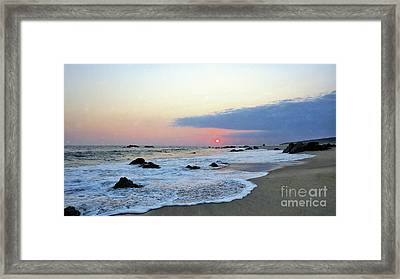 Framed Print featuring the photograph Pastel Blue by Victor K