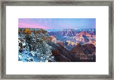 Pastel Canyon Framed Print