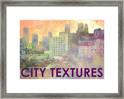 Pastel City Textures Framed Print