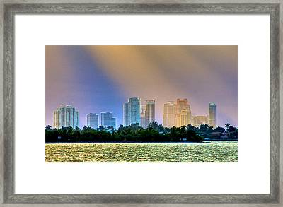Pastel City Framed Print by William Wetmore