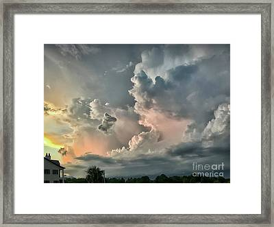 Pastel Clouds Framed Print by Walt Foegelle