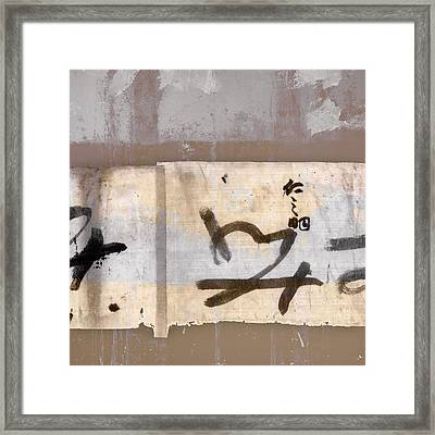 Pastel Colors And Calligraphy Framed Print