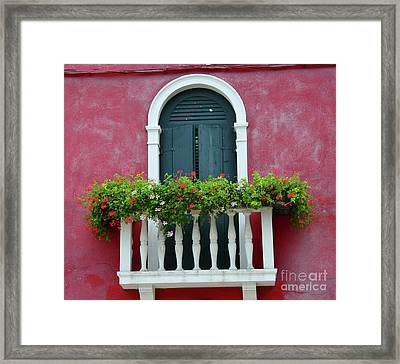 Pastel Colors Of Burano  Framed Print