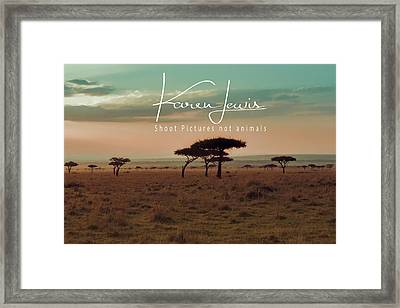 Framed Print featuring the photograph Pastel Dawn On The Mara by Karen Lewis