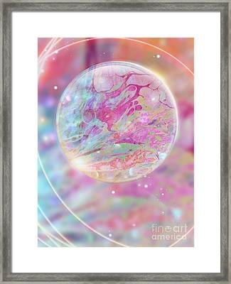 Pastel Dream Sphere Framed Print