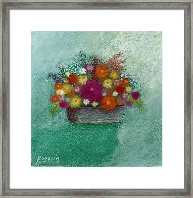 Pastel Flowers Framed Print by Harvey Rogosin