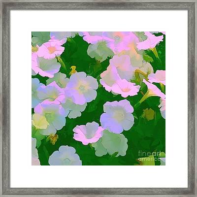 Pastel Flowers Framed Print by Tom Prendergast