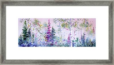 Pastel Forest Framed Print