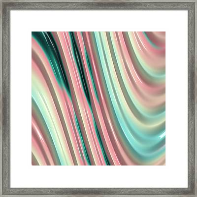 Framed Print featuring the photograph Pastel Fractal 2 by Bonnie Bruno
