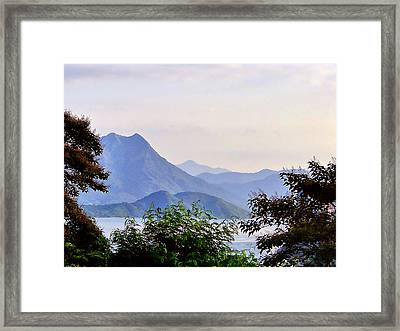 Framed Print featuring the photograph Pastel Glow by Blair Wainman