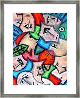 Pastel Heads By Rafi Talby Framed Print by Rafi Talby