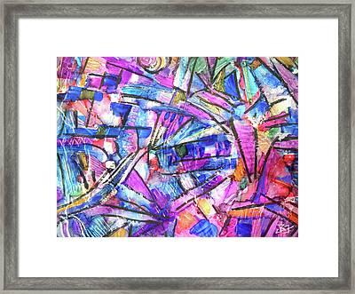 Pastel Kaleidoscope Framed Print