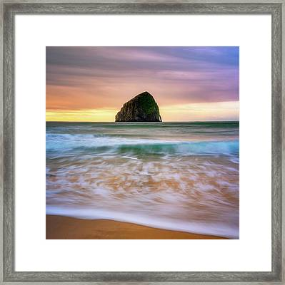 Framed Print featuring the photograph Pastel Morning At Kiwanda by Darren White