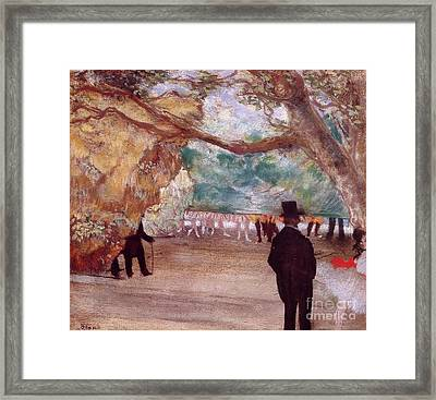 Pastel Over Charcoal And Monotype Framed Print by MotionAge Designs