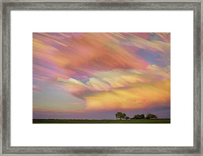 Framed Print featuring the photograph Pastel Painted Big Country Sky by James BO Insogna