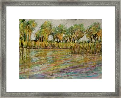 Pastel Palms Framed Print by Michele Hollister - for Nancy Asbell
