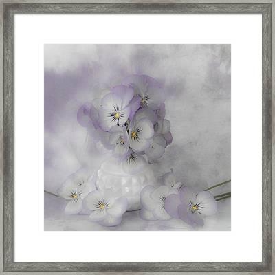 Pastel Pansies Still Life Framed Print by Sandra Foster
