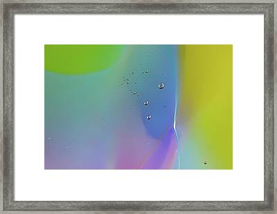 Pastel Paradise Glass Abstract Photography By Omashte Framed Print by Omaste Witkowski