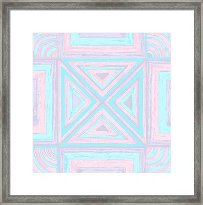 Framed Print featuring the drawing Pastel Patchwork by Jill Lenzmeier