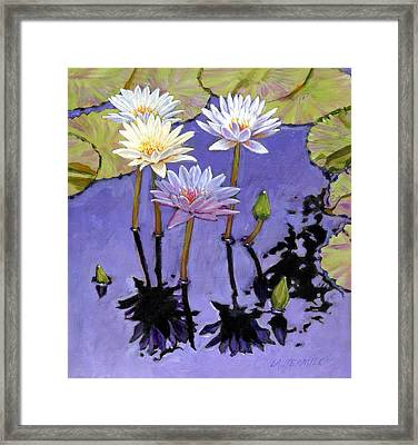 Pastel Petals Framed Print by John Lautermilch