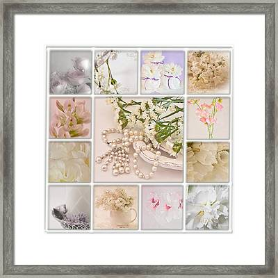 Pastel Photo Collage  Framed Print by Sandra Foster
