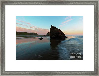 Pastel Reflections Framed Print by Mike Dawson