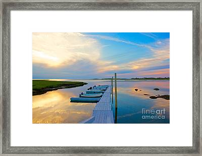 Pastel Reflections On Cape Cod Framed Print by Amazing Jules