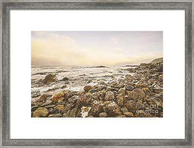 Pastel Sea Landscape Framed Print by Jorgo Photography - Wall Art Gallery