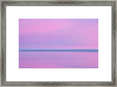 Pastel Shades Of An Icelandic  Winter Sunset. Framed Print