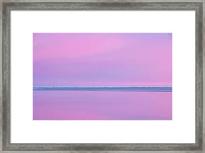 Pastel Shades Of An Icelandic  Winter Sunset. Framed Print