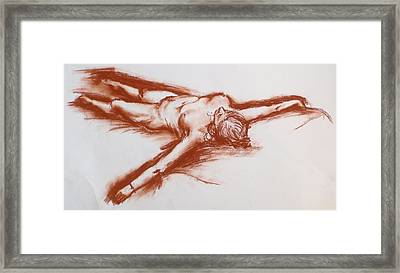 Pastel Sketch 11.2010 Framed Print